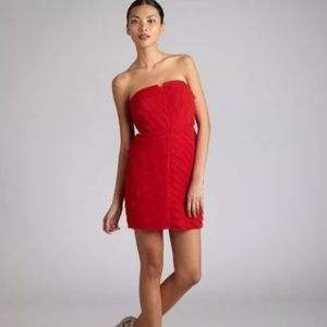 Adam by Adam Lippes Red Silk Mini Dress